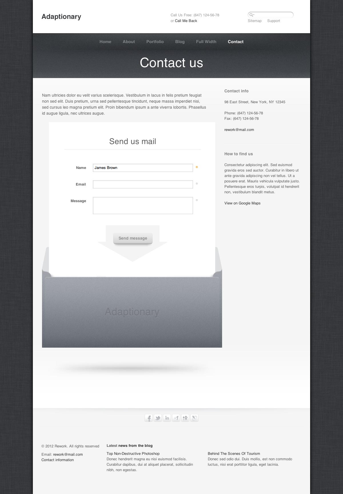 Adaptionary - Responsive HTML Template