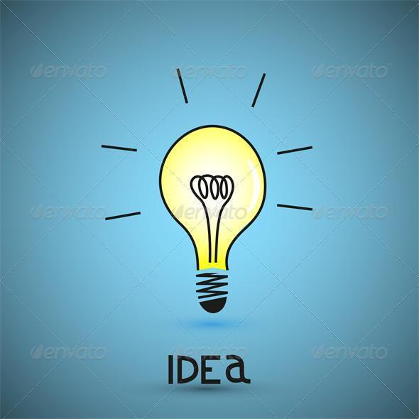 Vector bulb light idea...