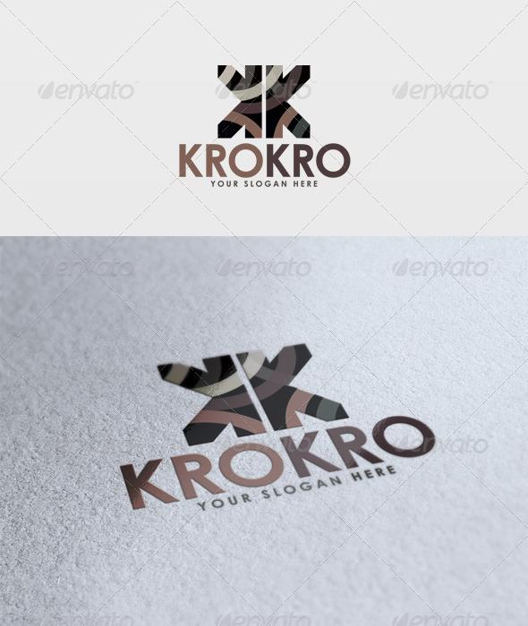 Krokro Logo - Letters Logo Templates