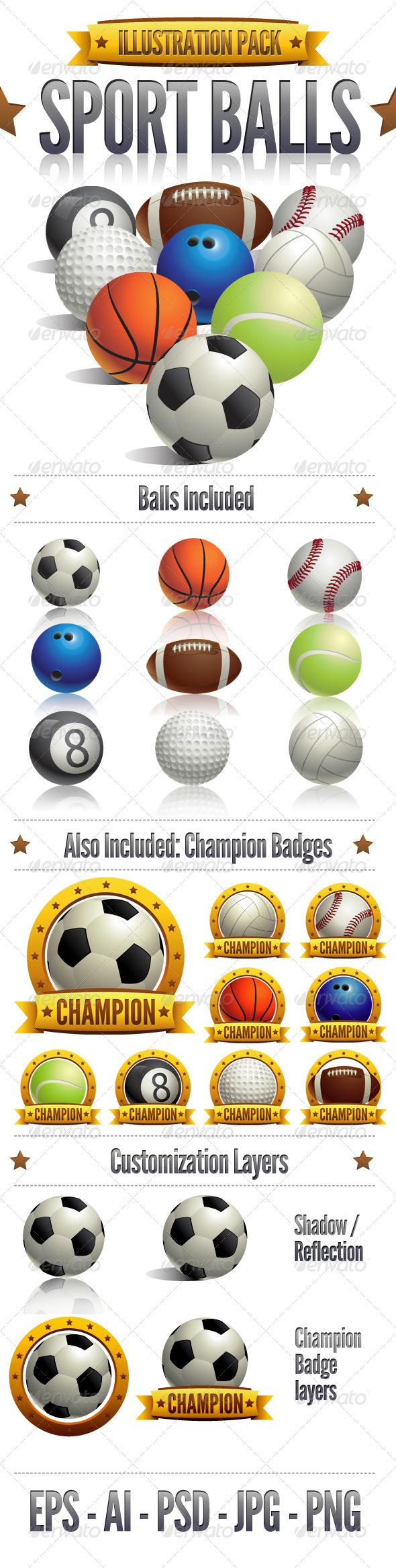 GraphicRiver Sport Balls 2601480