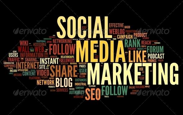 PhotoDune Social media marketing in tag cloud 2601486