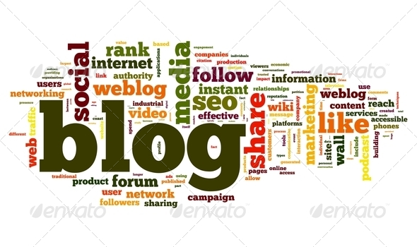 PhotoDune Blog concept in word tag cloud 2601496