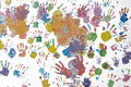 Colorful children handprint. - PhotoDune Item for Sale