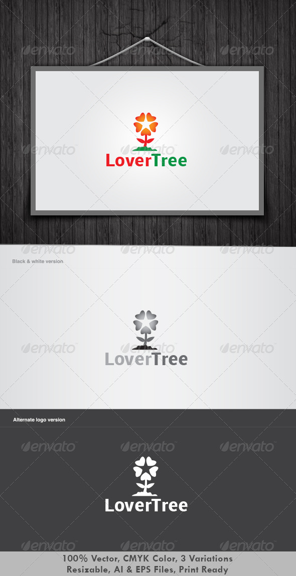 Lover Tree Logo - Nature Logo Templates