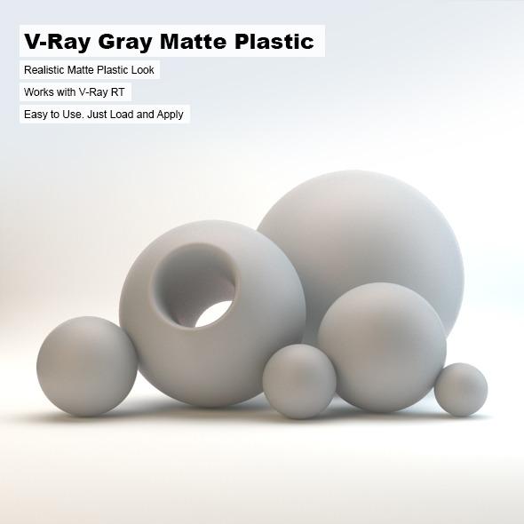 3DOcean V-Ray Gray Matte Plastic 2602993