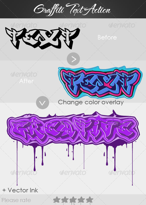 Graffiti Action - Text Effects Actions
