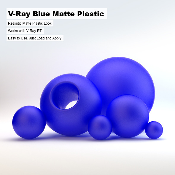 V-Ray Blue Matte Plastic - 3DOcean Item for Sale