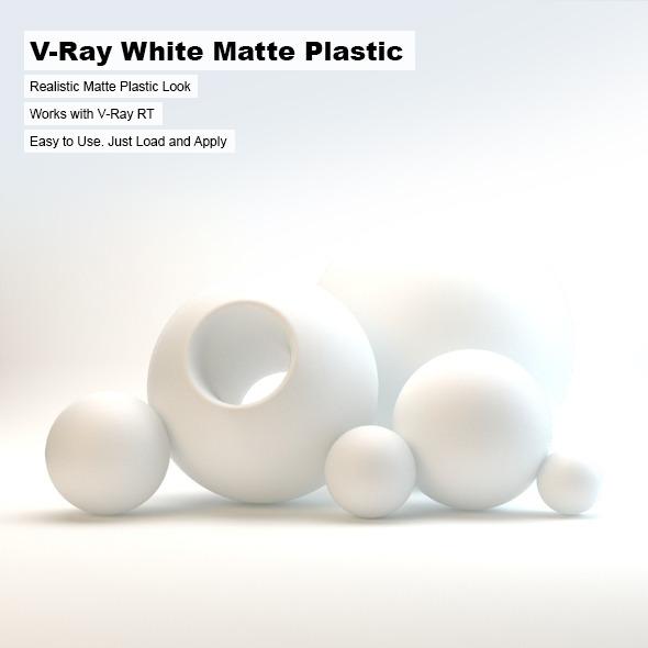 3DOcean V-Ray White Matte Plastic 2603073
