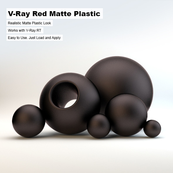 V-Ray Black Matte Plastic - 3DOcean Item for Sale