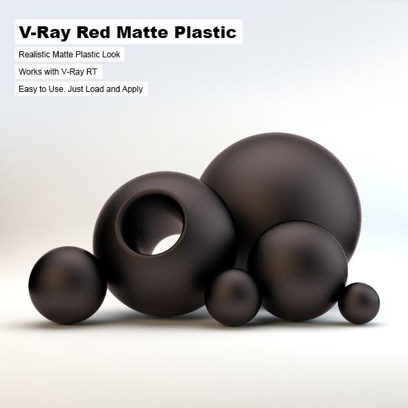 3DOcean V-Ray Black Matte Plastic 2603152
