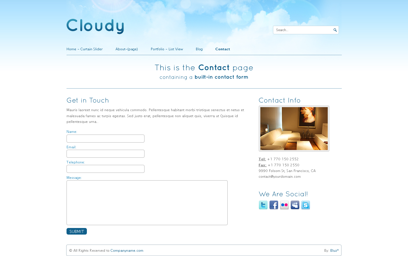 Cloudy-2 in 1 Unique Business & Portfolio Template