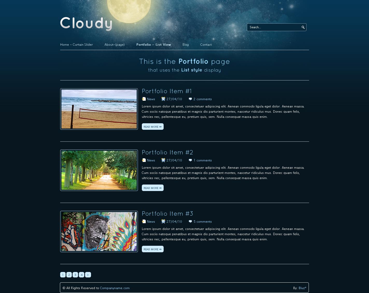 Cloudy-2 in 1 Unique Business & Portfolio Template