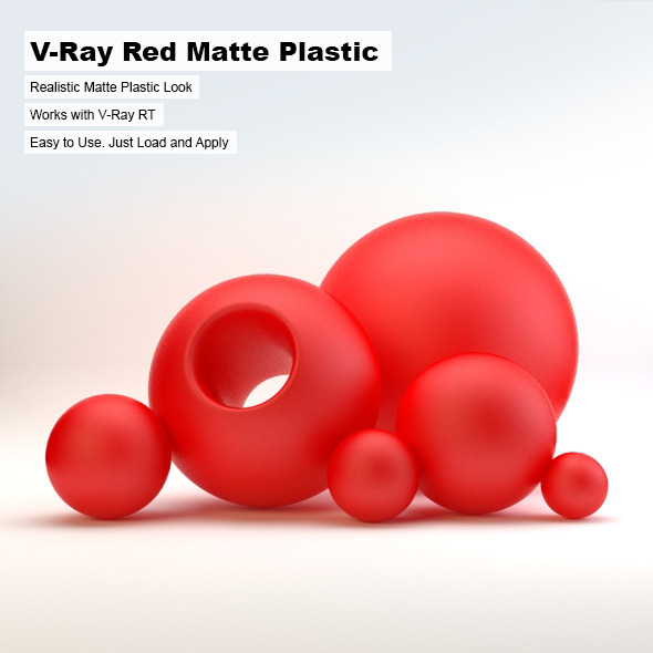 V-Ray Red Matte Plastic - 3DOcean Item for Sale