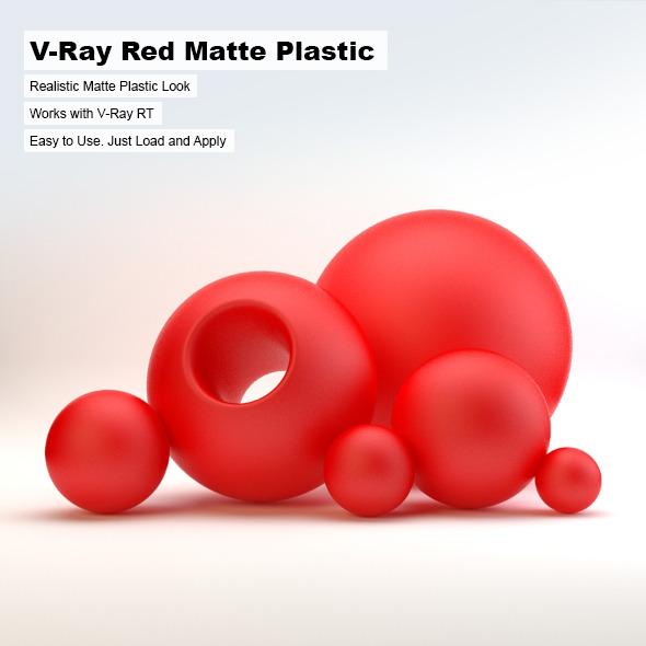 V-Ray Red Matte Plastic - 3DOcean Item for Sale