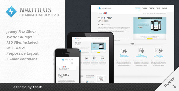 ThemeForest Nautilus One Page Responsive Business Template 2568203