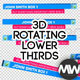 3D Rotating Lower-Thirds