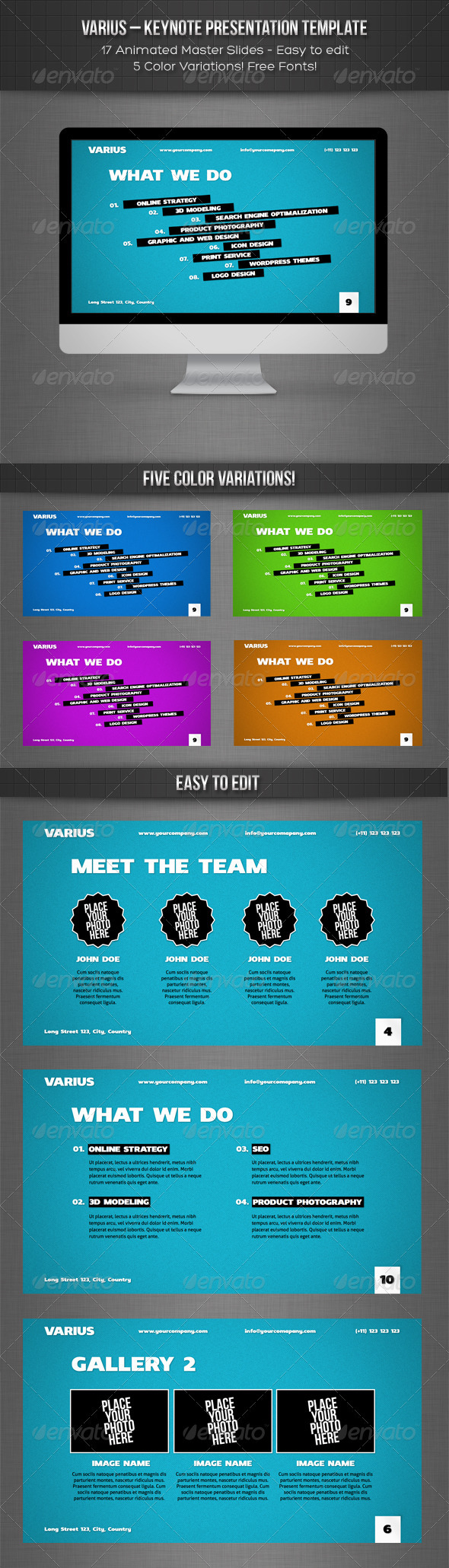 GraphicRiver Varius Keynote Presentation Template 2484197