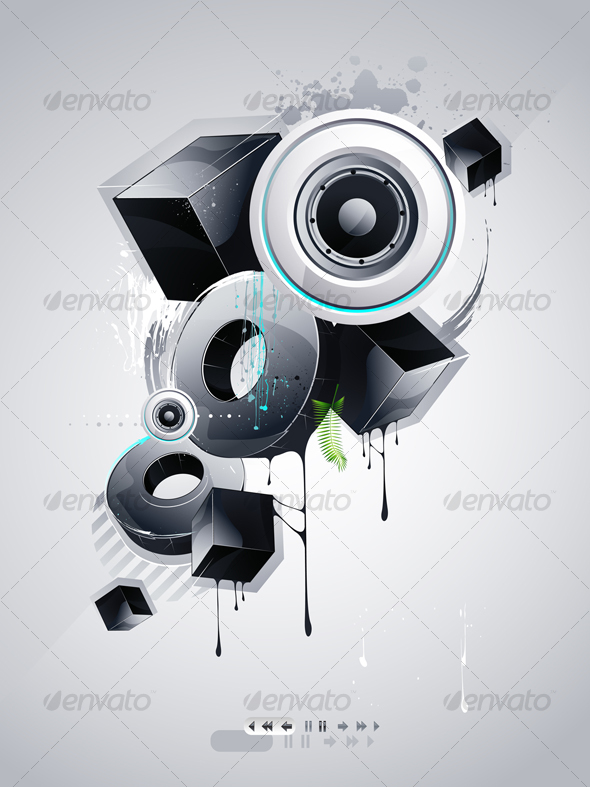 GraphicRiver Abstract Objects in the Style of Graffiti 94524