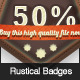 Rustical Special Offer Badges - GraphicRiver Item for Sale