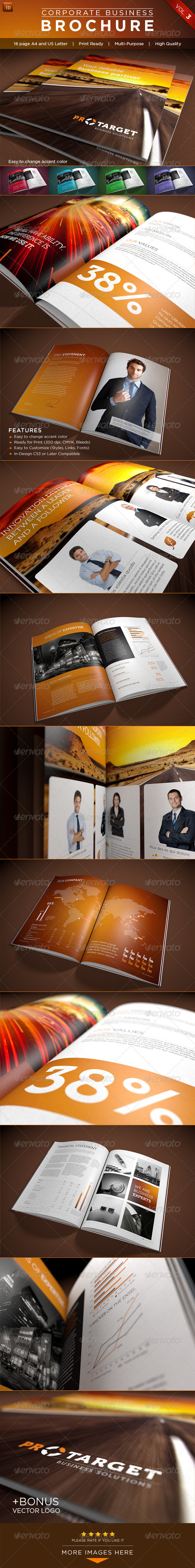 Corporate Business Brochure Vol. 3 - Brochures Print Templates