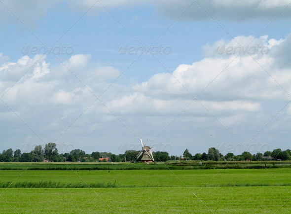 Windmill in Groningen - Stock Photo - Images