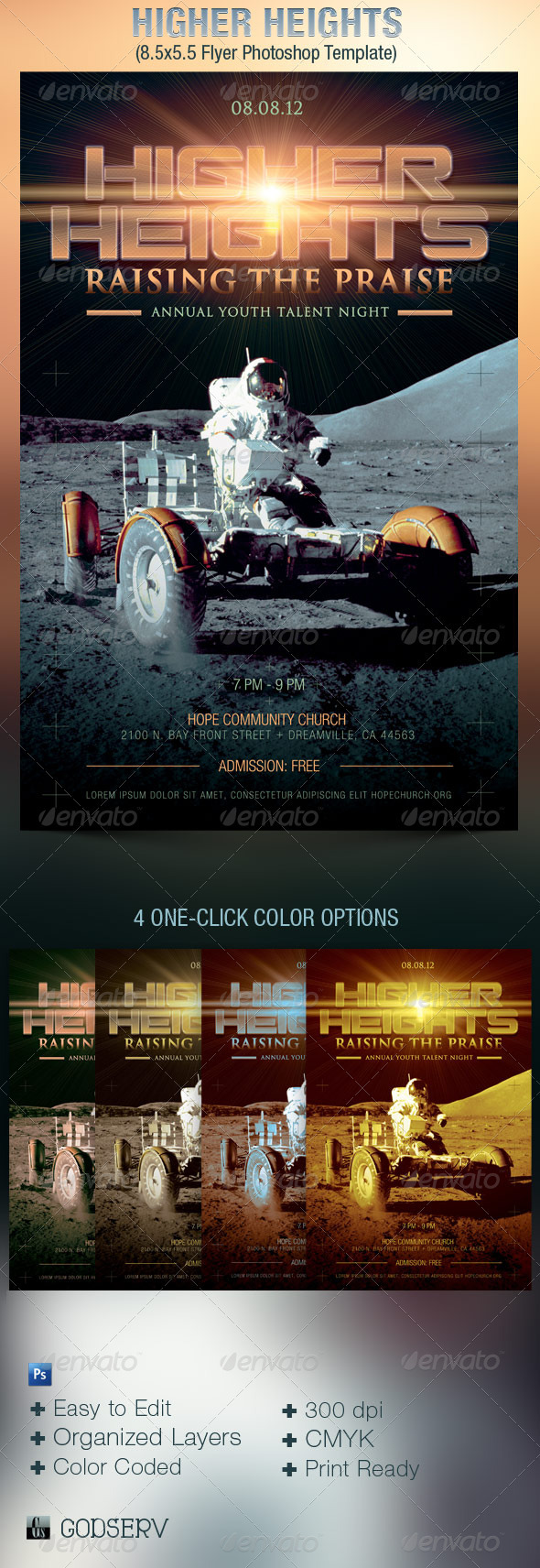GraphicRiver Higher Heights Youth Talent Night Flyer Template 2597912
