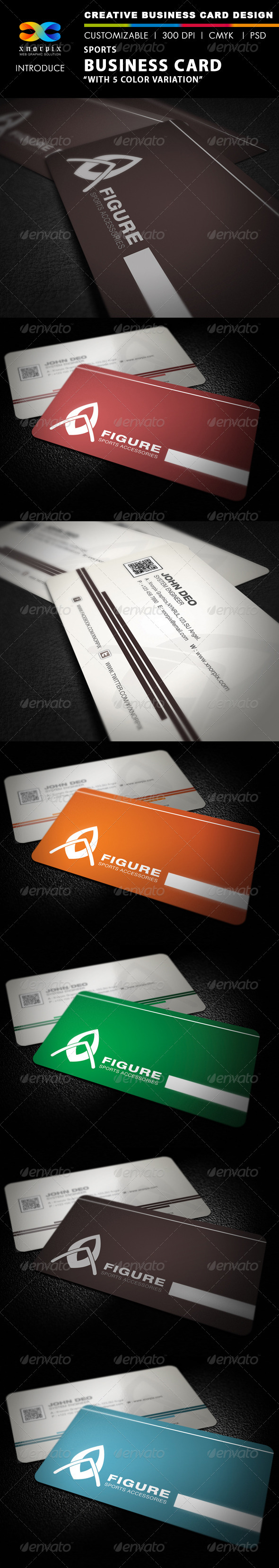GraphicRiver Sports Business Card 2605762