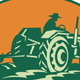 Download Vector Farmer Worker Driving Farm Tractor