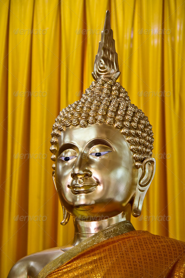 Buddha image face - Stock Photo - Images