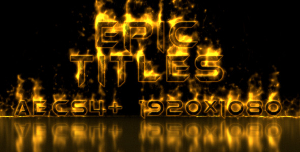 After Effects Project - VideoHive Epic Titles 2606838