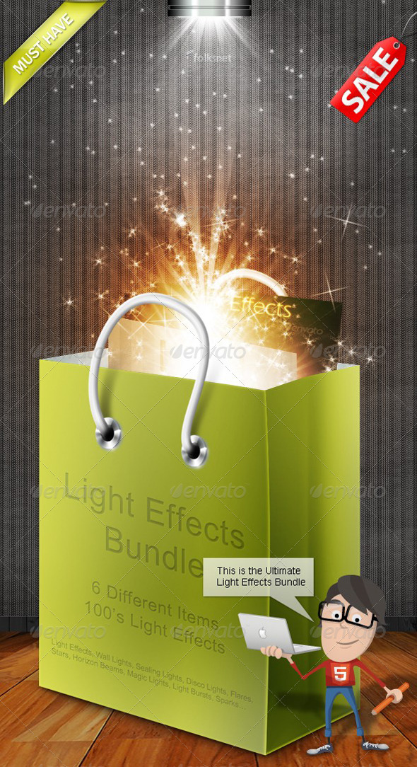 GraphicRiver Light Effects Bundle 282156