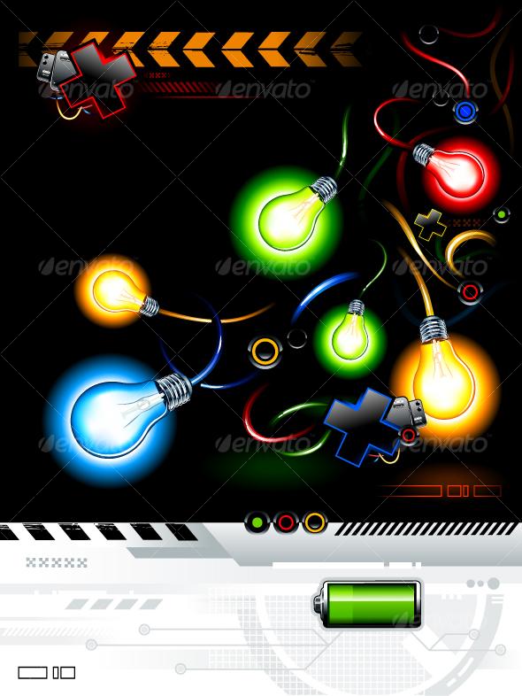 GraphicRiver Cool futuristic background 94614