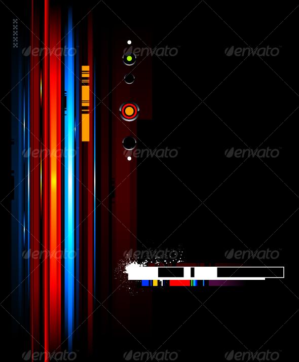 GraphicRiver Cool futuristic background 94618