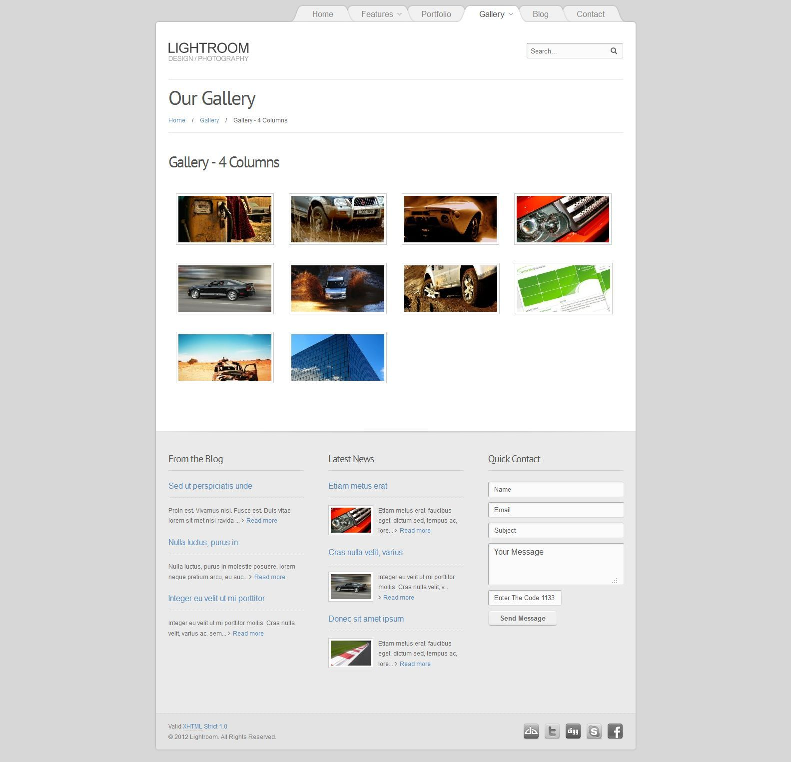 Lightroom - Premium Joomla 2.5 Theme