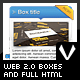 Web 2.0 boxes and full html - GraphicRiver Item for Sale