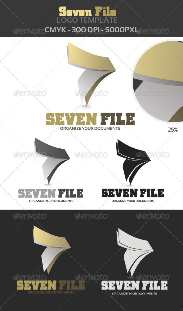 7 File Logo Template