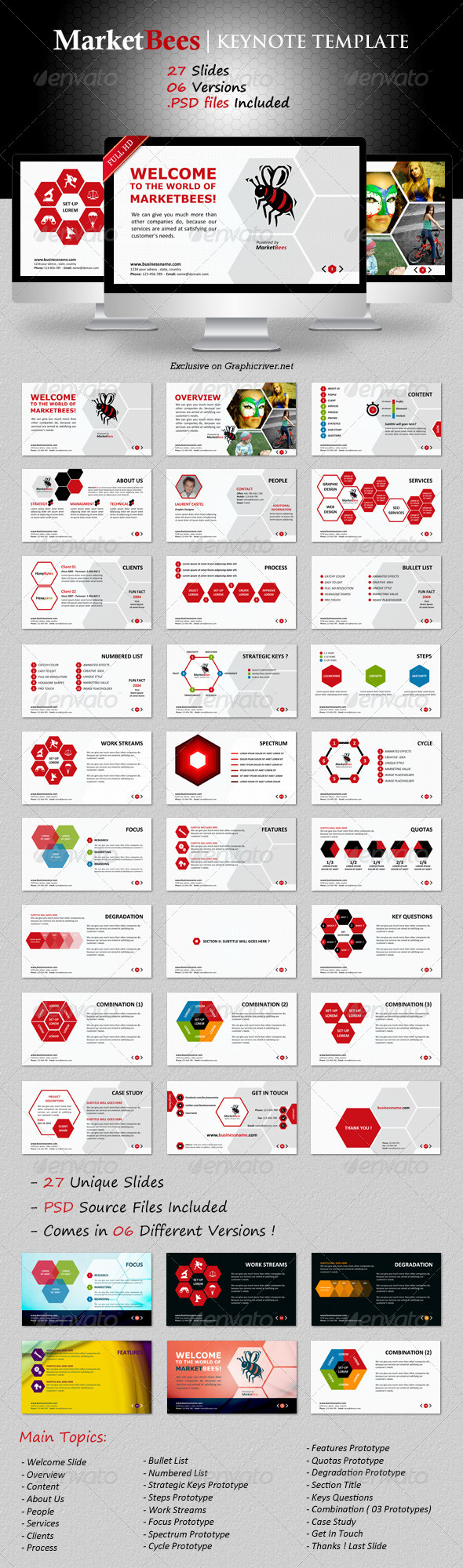 Marketbees Keynote Template - Business Keynote Templates