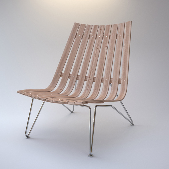 Photorealistic ScandiaNett Lounge Chair - 3DOcean Item for Sale