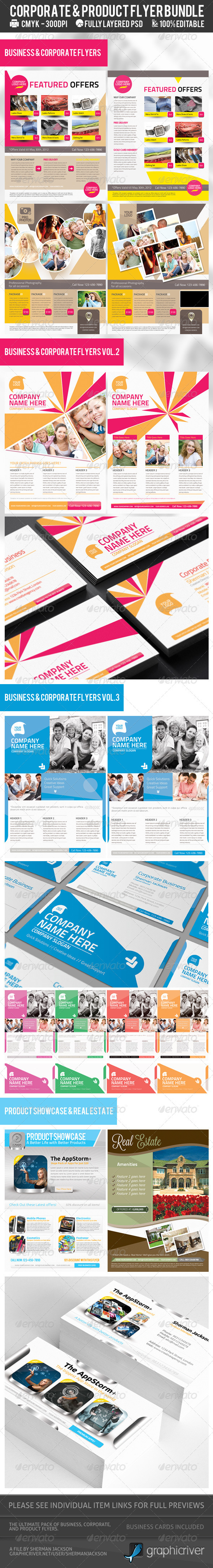 GraphicRiver Corporate & Product Flyer Premium Bundle 2609315