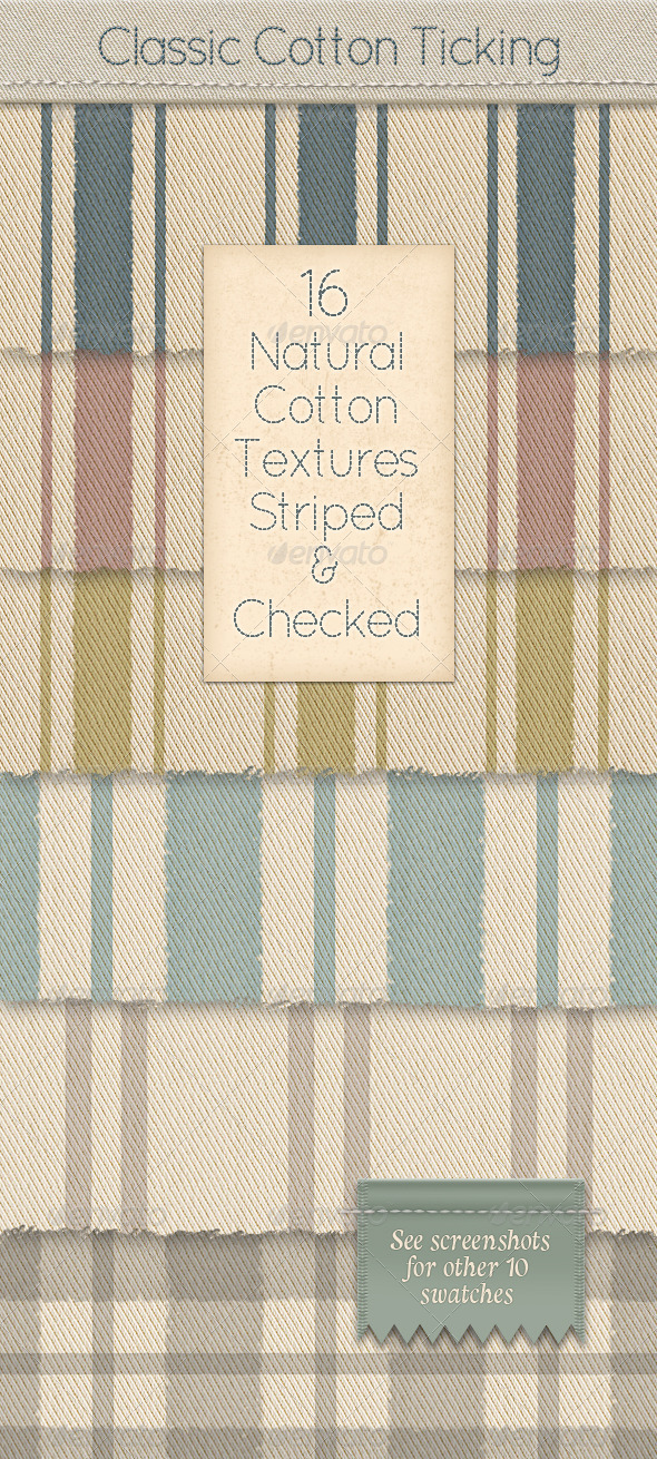 Cotton Mattress Ticking; Classic Vintage Fabric - Fabric Textures