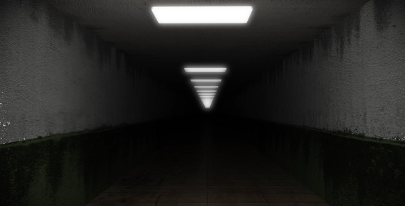 Dark and Creepy Horror Corridor