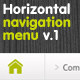 horizontal navigation menu - GraphicRiver Item for Sale