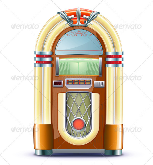 Juke box - Objects Vectors