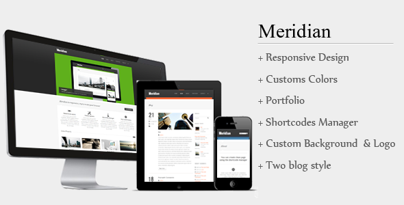 Meridian Responsive WordPress Theme