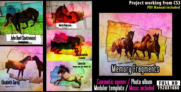 VideoHive Memory Fragments Cinematic Opener 2601005