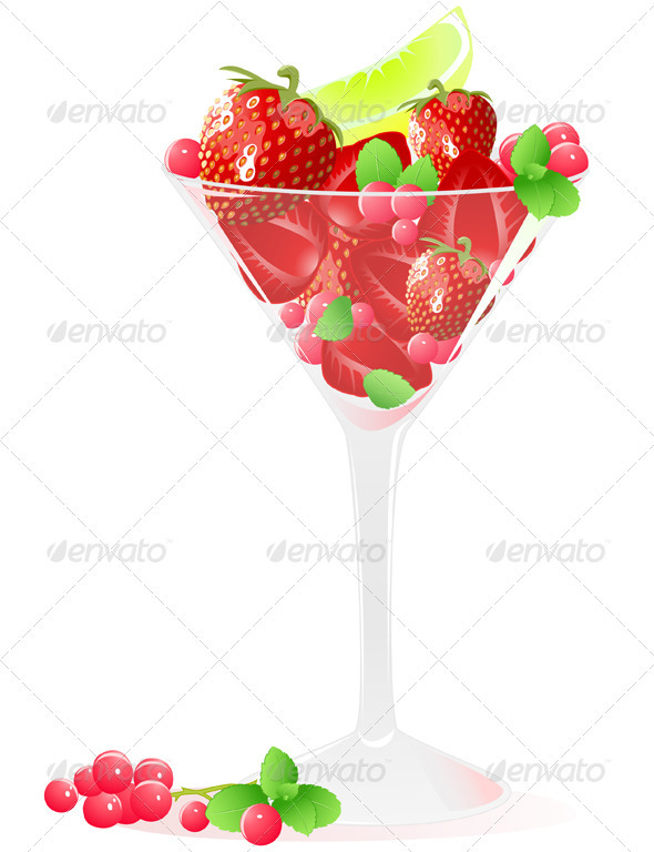 Glass of Berries and Fruits