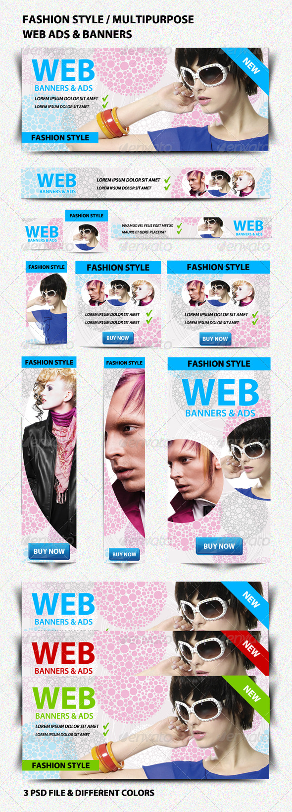 Fashion Style Multipurpose Web Ads & Banners