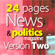 24 Pages News & Politics Magazine Version Two - GraphicRiver Item for Sale