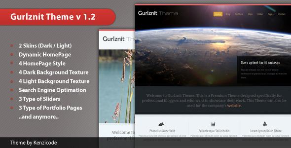 ThemeForest Gurlznit Blog and Portfolio Theme 2255093