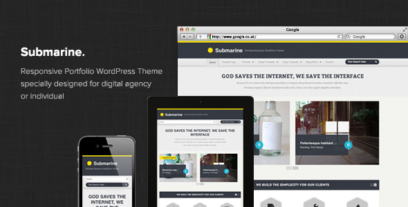 Submarine - Responsive Portfolio WordPress Theme